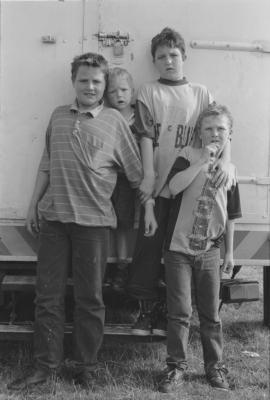 5. Four Boys Standing,1993. Silver gelatin print.