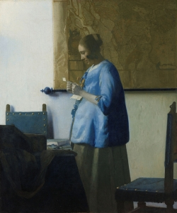 Johannes Vermeer, Woman Reading a Letter, ca. 1663