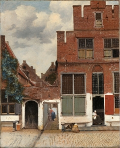 Johannes Vermeer, View of Houses in Delft, Known as The Little Street, c. 1658