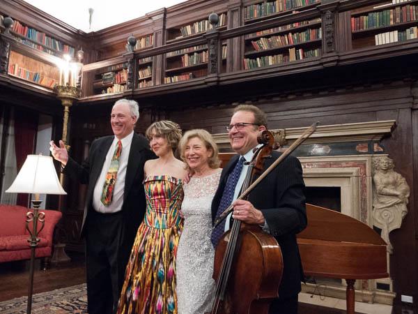 Kenneth Cooper, Roza Tulyaganova, Paula Robison, and Frederick Zlotkin take their bows. Photo Joanna Gabler
