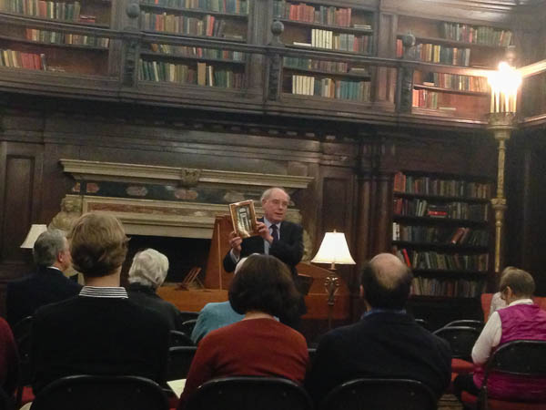 Michael Miller presents a book about the House of the Redeemer, A House Apart. Photo Omar Sangare.