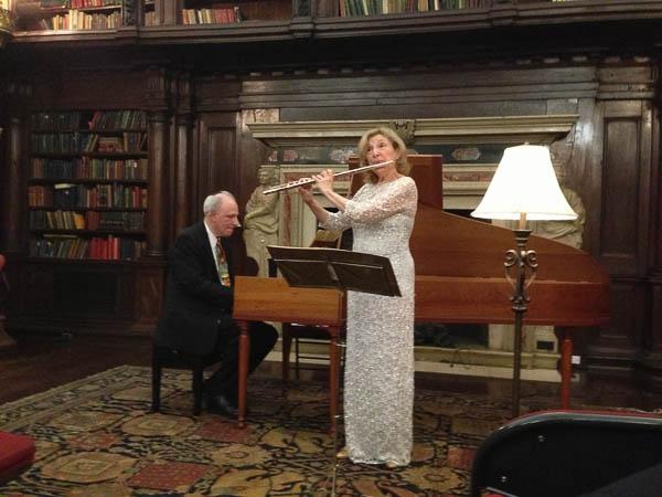 Kenneth Cooper and Paula Robison. Photo Leslie Teicholz.