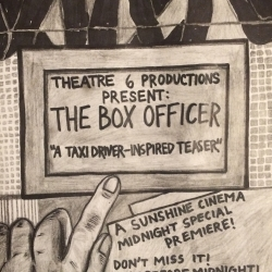 """""""The Box Officer"""" (Shown at Sunshine Cinema, October 9 – 11, just before the midnight screenings of """"Taxi Driver"""") is now on You Tube."""