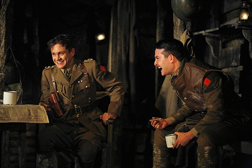 Hugh Dancy as Stanhope and Justin Blanchard as Hibbert in R. C. Sherriff's Journey's End