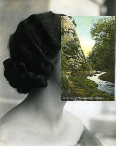 John Stezaker, Woman. Collage.