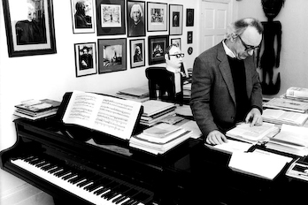 Alfred Brendel in his Studio with Doppelgänger