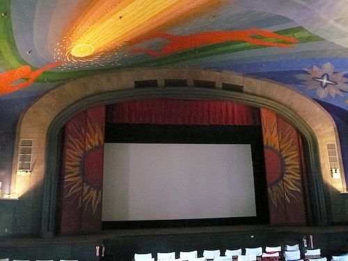 The Cape Cinema, Dennis, MA, decorated by Rockwell Kent. Photo 2008 Lucy Vivante.