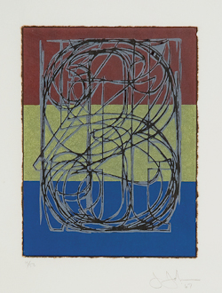 Jasper Johns (b.1930), 0 through 9 (ULAE 34) Lithograph printed in colors, 1967, signed and dated in pencil, numbered 14/50, published by ULAE, West Islip, with their blindstamp lower left, on Japon collé attached to Chatham