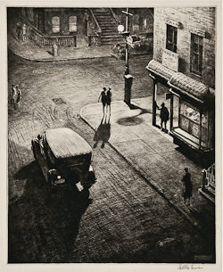Martin Lewis (1881-1962), Relics (Speakeasy Corner) (M.74) Drypoint, 1928, signed in pencil
