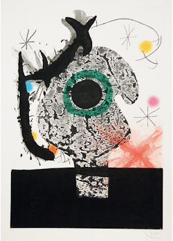 Joan Miró (1893-1983), Polyphème (D.450) Etching with aquatint, and carborundum and embossing printed in colors, 1968, signed and inscribed 'HC' in pencil, an hors commerce impression, aside from the edition of 75, printed and published by Maeght, Paris, on wove paper