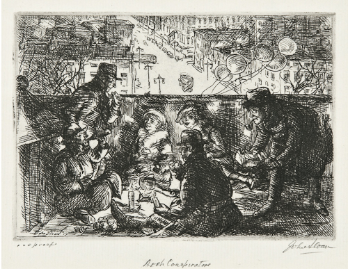 John Sloan (1871-1951) Arch Conspirators (M.183) Etching, 1917, signed and titled in pencil, inscribed '100 proofs', the second (final) state, the edition was 100, on cream laid paper
