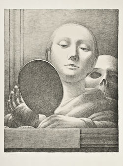 George Tooker (b.1920), The Mirror (G. 4) Lithograph, 1978, signed in pencil, dedicated 'To Geoffrey', the edition was 125, printed and published by Editions Press, San Francisco, on wove paper