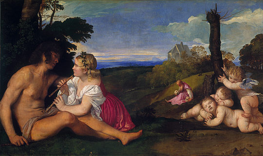 The Three Ages of Man (about 1512-1514), Titian | Edinburgh, National Gallery of Scotland (Bridgewater Loan, 1945)