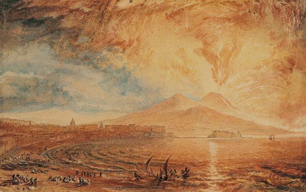 Bay of Naples (Vesuvius Angry) c.1817 | Watercolour on paper | 17.6 x 28.4 cm | Williamson Art Gallery, Birkenhead