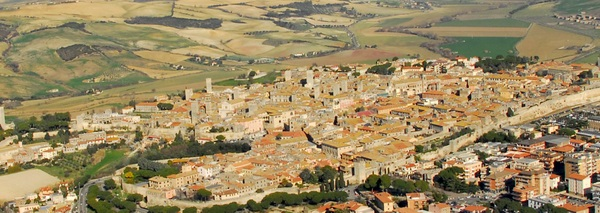 Tarquinia from the air.