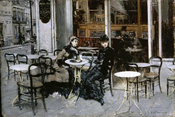 Giovanni Boldini, Conversazione al caffè