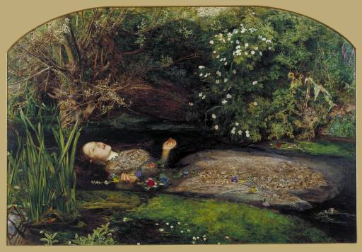 John Everett Millais, Ophelia (1851-51). Tate Britain, London.
