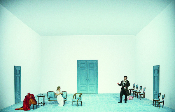 Le Nozze di Figaro: Jürgen Rose's set. From the premiere on June 30, 1997. Photo Wilfried Hösl.