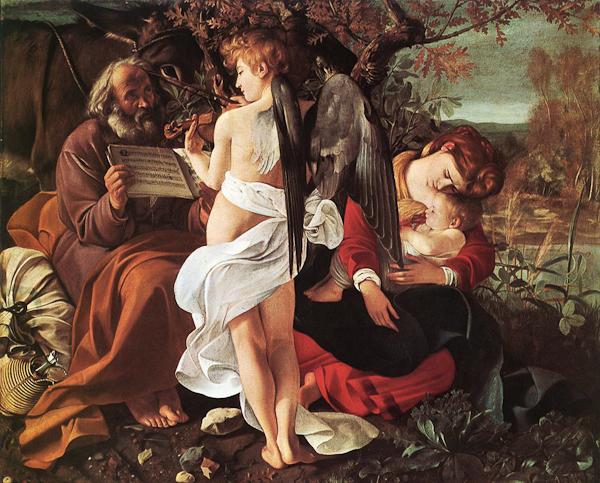 Michelangelo Merisi da Caravaggio, Rest on the Flight into Egypt, Galleria Doria Pamphilij, Rome