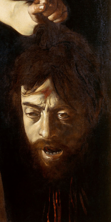 Michelangelo Merisi da Caravaggio, Self-Portrait as Goliath