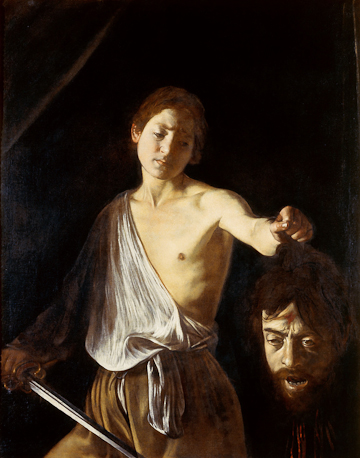 Michelangelo Merisi da Caravaggio, David and Goliath, Galleria Borghese, Rome.