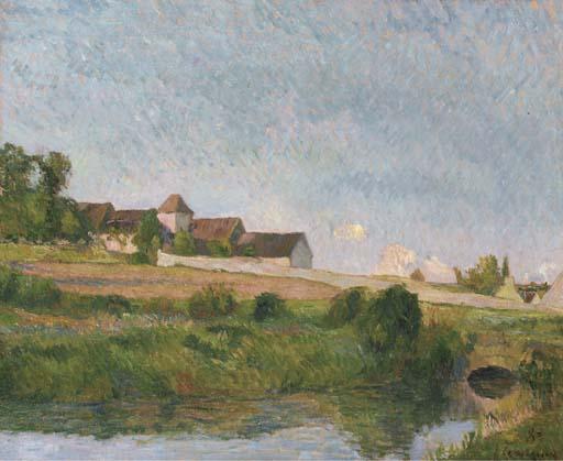 Paul Gauguin, La ferme de la Grou, Osny, 1883. Private Collection.