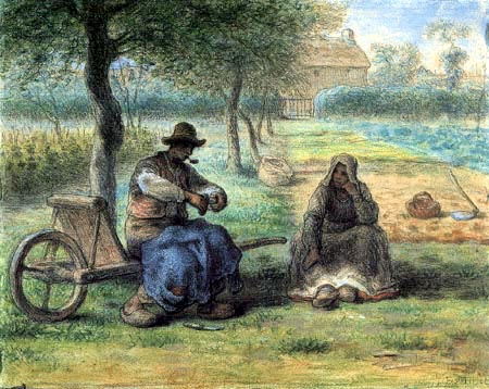 Jean-François Millet, The Lighter: A Break in the Middle of the Day, 1856-1865