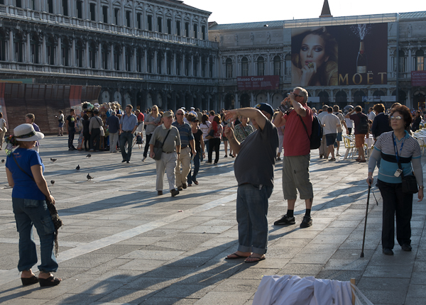 The Piazza San Marco with Softcore Billboard. Photo Michael Miller 2010.