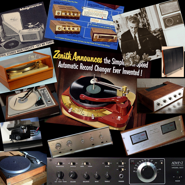 Grooves in the Mist, a Vinyl Memoir. Collage by Steven Kruger.