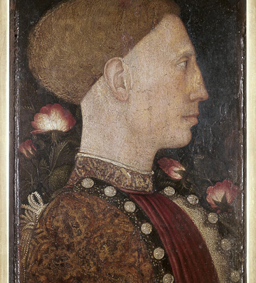 Antonio Pisanello, Portrait of Lionello d'Este, 1441. Tempera on panel.