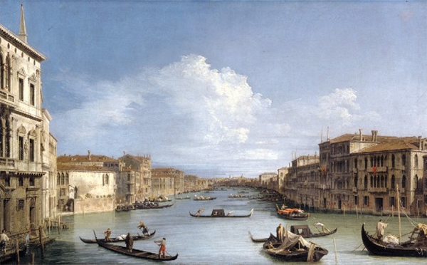 Antionio Canale, called Il Canaletto, View of the Canal Grande, Venice. OIl on Canvas.
