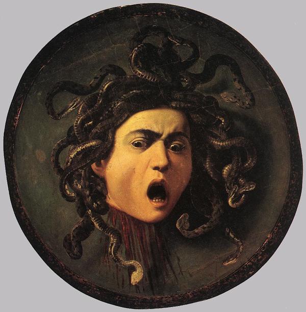 Michelangelo Merisi da Caravaggio, Medusa, Galleria degli Uffizi, Firenze.
