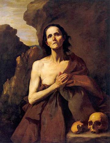 Jusepe de Ribera, Lo Spagnoletto, Santa-Maria-Egiziaca,  Napoli, Museo Civico Gaetano Filangieri.