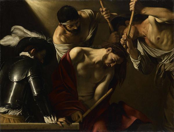 Michelangelo Merisi da Caravaggio, Christ Crowned with Thorns, oil on canvas, Scuderie del Quirinale, Rome.