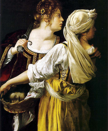 Artemisia Gentileschi, Judith and her Maidservant (1613-14), oil on canvas, Palazzo Pitti, Florence.