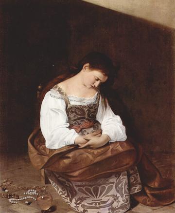 Michelangelo Merisi da Caravaggio, Penitent Magdalen, oil on canvas,Galleria Doria Pamphilij, Rome.