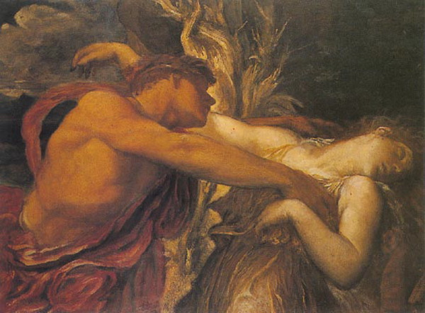 George Frederic Watts, Orpheus and Eurydice (c. 1875).