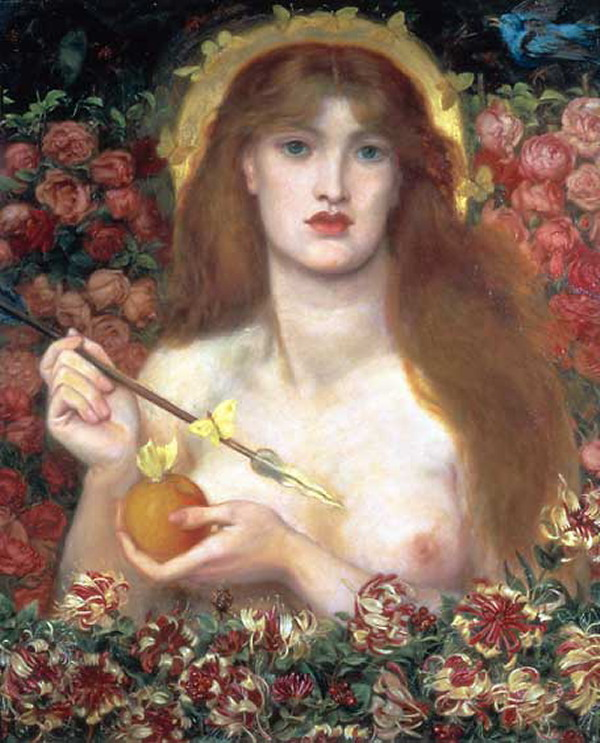 Dante Gabriel Rossetti, Venus Verticordia (1864-8), Russell-Cotes Art Gallery and Museum, Bournemouth.