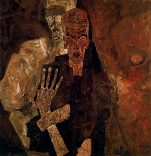 Egon Schiele, Tod und Mann II, 1911, oil on canvas, Leopold Museum, Vienna