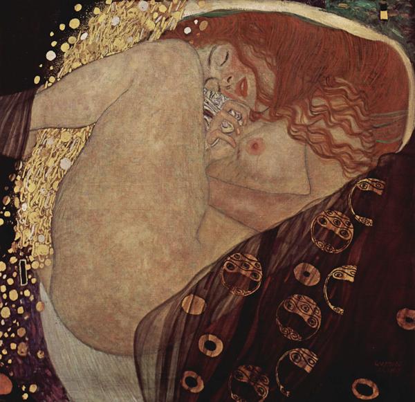 Gustav Klimt, Danae. oil on canvas, 1907, Galerie Wöhrle, Vienna