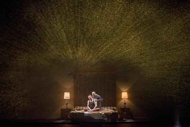 Götterdämmerung, Act II: Andrea Silvestrelli (Hagen) and Gordon Hawkins (Alberich). Photo Cory Weaver.
