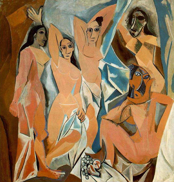 Pablo Picasso, Le Demoiselles d'Avignon, oil on canvas, 1907, Museum of Modern Art