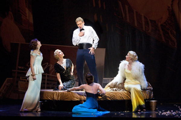 Jupiter (Carsten Wittmoser) and The Four Queens. Photo Cory Weaver.