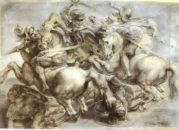 Peter Paul Rubens, The Battle of Anghiari (copy after Leonardo), Musée du Louvre.