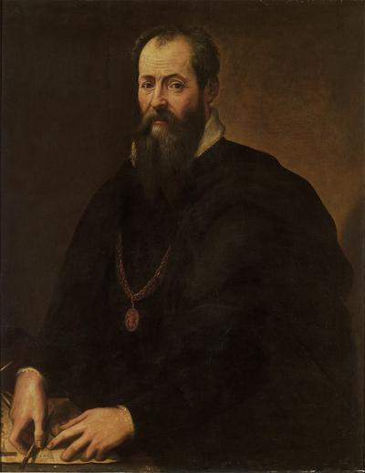 Giorgio Vasari, Self Portrait, oil on panel, 1566-1568. Galleria degli Uffizi, Florence.