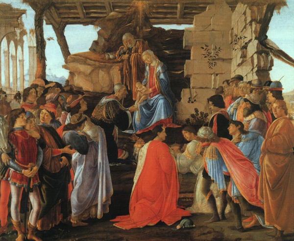 Sandro Botticelli, Adoration of the Magi, c. 1475-76, Florence, Galleria deli Uffizi.