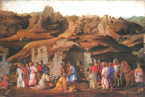 Filippino Lippi, Adoration of the Kings, c. 1480, London, National Gallery.
