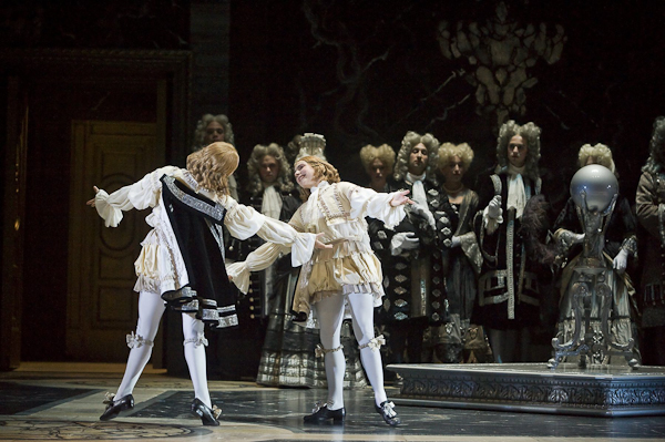 Members of Les Arts Florissants and L'Opera Comique in a scene from Lully's Atys at the Brooklyn Acadamy of Music Opera House. Photo Stephanie Berger.