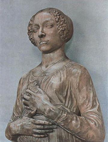 Andrea del Verocchio, Lady with Primroses, c. 1470s, Bargello Museum, Florence.