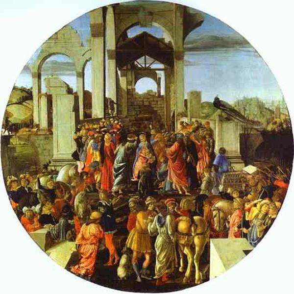 Sandro Botticelli and Filippino Lippi, Adoration of the Magi, 1470-74, London, National Gallery.